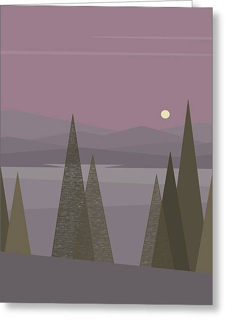 Full Moon  Greeting Card by Val Arie