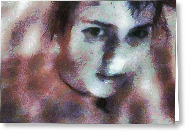Greeting Card featuring the digital art Full Of Expectation by Gun Legler