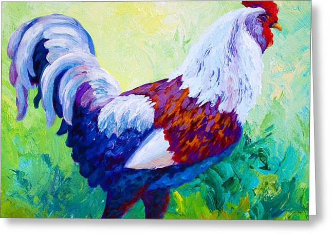 Full Of Himself - Rooster Greeting Card