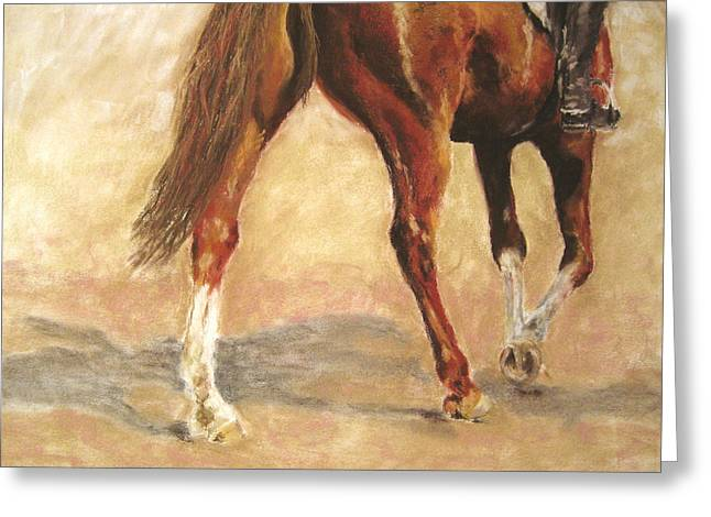 Dressage Pastels Greeting Cards - Full of Verve Greeting Card by Sabina Haas