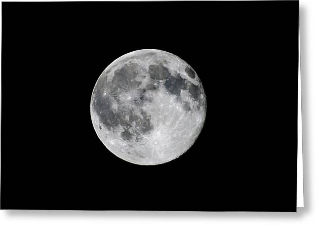 Full Strawberry Moon June 2016 Square Greeting Card by Terry DeLuco