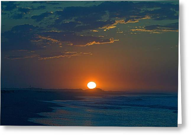 Greeting Card featuring the photograph Full Sun Up by  Newwwman