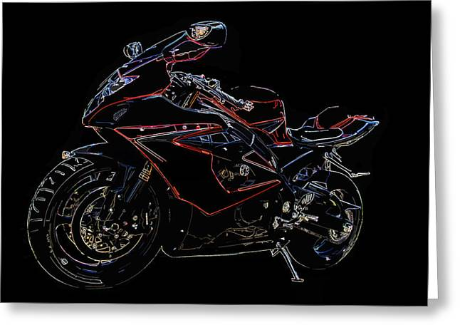 Superbikes Greeting Cards - Full Throttle II Greeting Card by Ricky Barnard