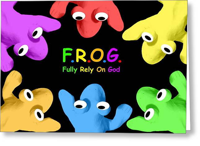 Fully Rely On God Greeting Card by Crescentia Mello