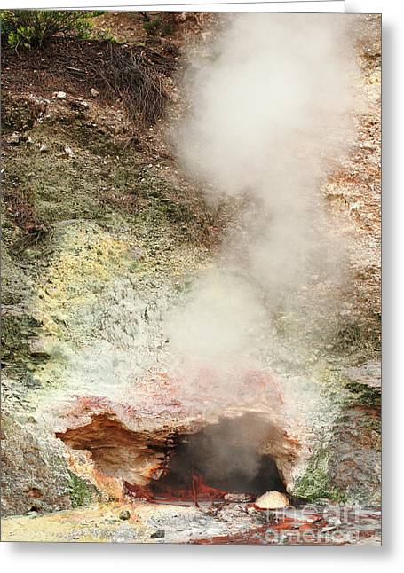 Fumarole In Furnas Valley Greeting Card by Gaspar Avila