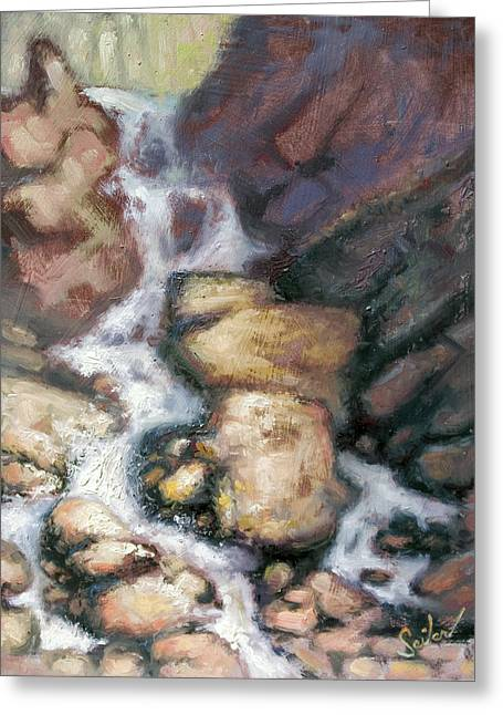 Fumee Falls Greeting Card by Larry Seiler