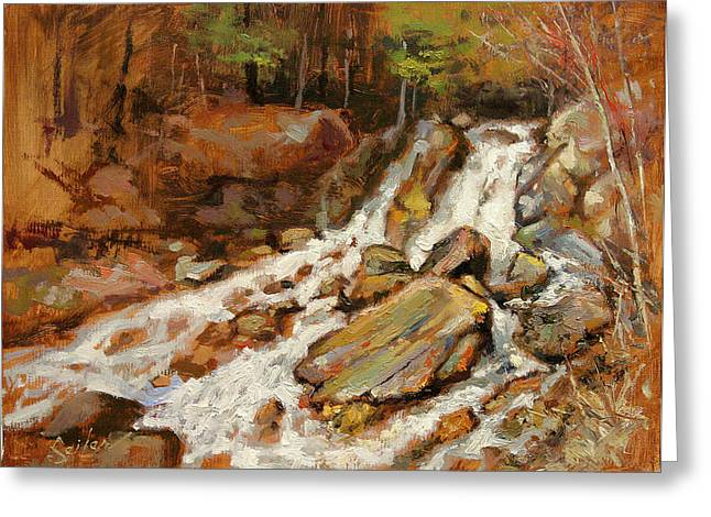 Fumee Falls Quinnessec Mi Greeting Card by Larry Seiler
