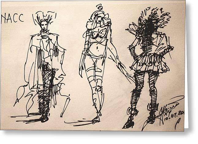 Fun At Art Of Fashion At Nacc Greeting Card