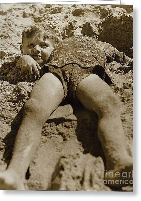 Fun Day At The Beach Greeting Card by Jon Neidert