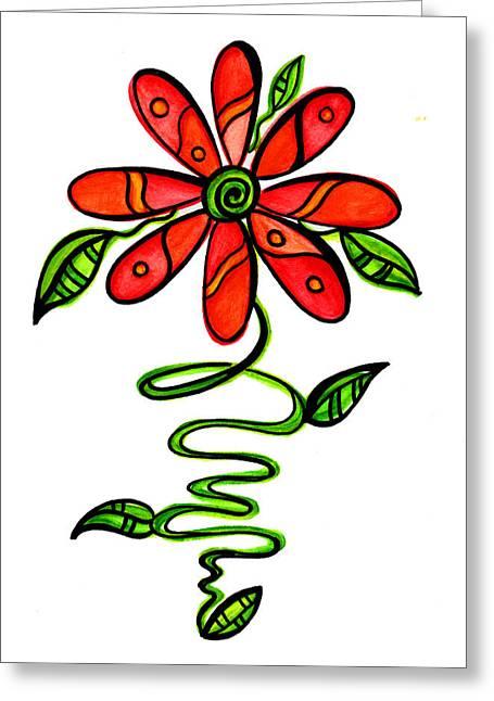 Fun Flower 3 Greeting Card by Sandi Fender
