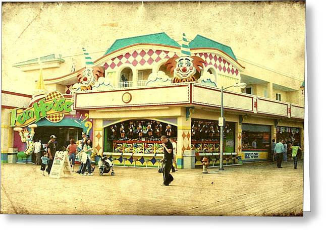Fun House - Jersey Shore Greeting Card by Angie Tirado