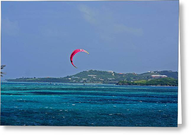 Fun In St. Croix Greeting Card by Martin Morehead