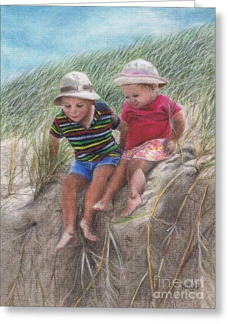 Fun In The Dunes Greeting Card by Karen Hull