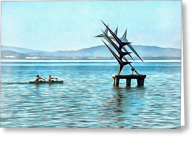 Fun In The Sun At Lago Trasimeno Greeting Card by Dorothy Berry-Lound