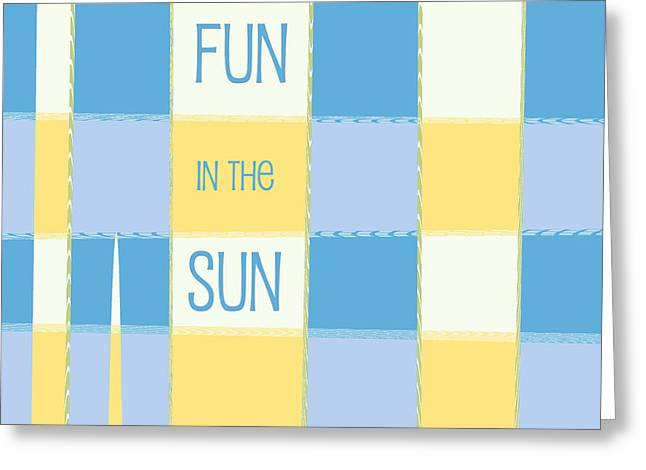 Fun In The Sun Greeting Card by Bonnie Bruno