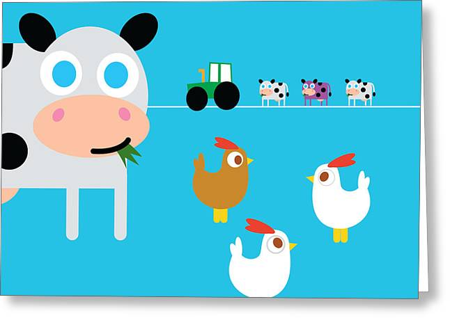 Fun On The Farm Greeting Card by Pbs Kids