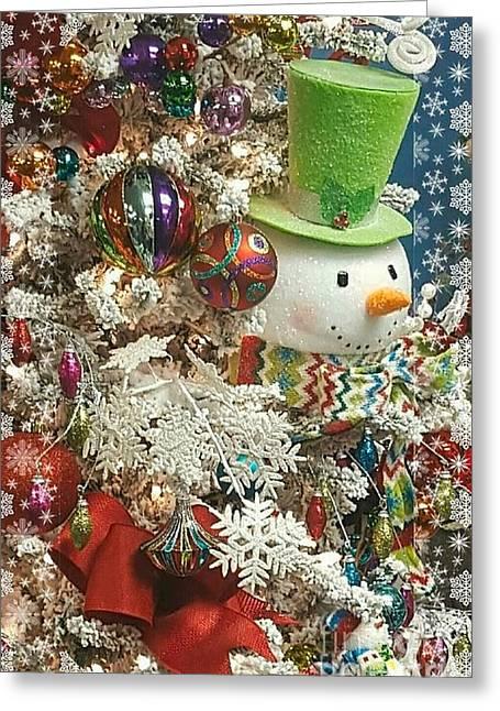 Fun Snowman Holiday Greeting Greeting Card