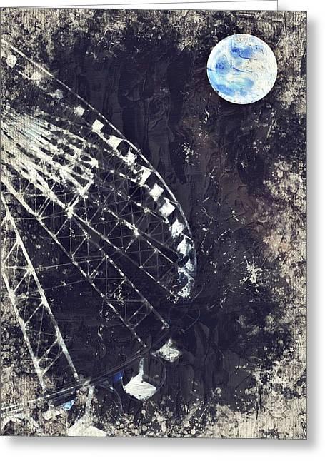 Fun While Space Gazing By Adam Asar 5 Greeting Card