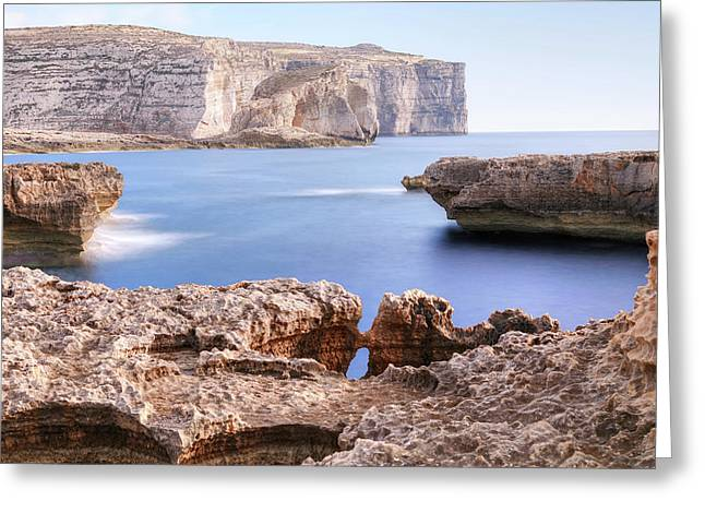 Fungus Rock - Gozo Greeting Card by Joana Kruse