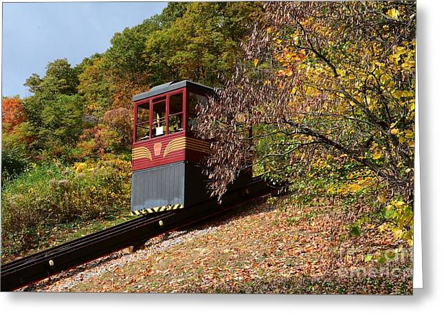 Funicular Descending Greeting Card by Cindy Manero