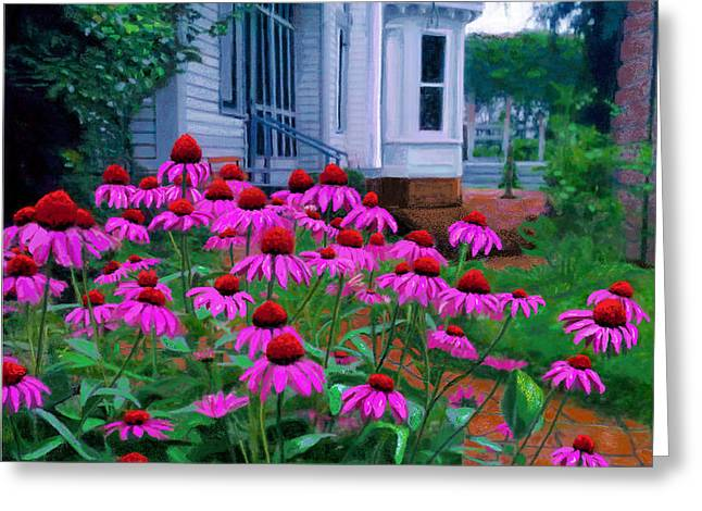 Funk Herb Garden And Porch Greeting Card