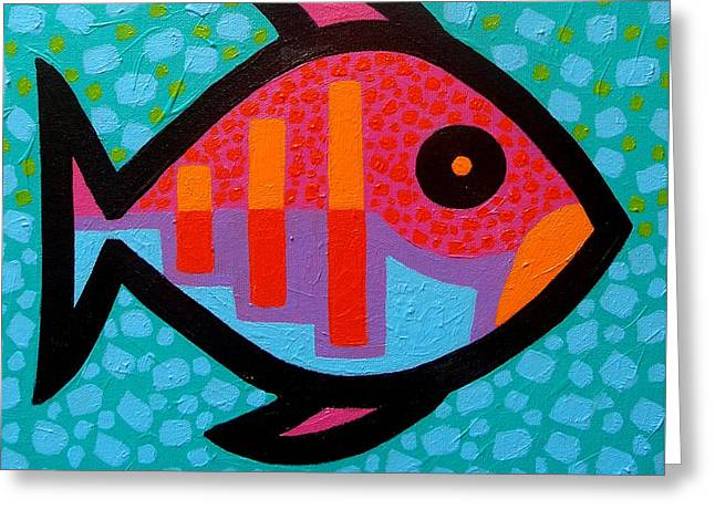 Funky Fish IIi  Greeting Card by John  Nolan