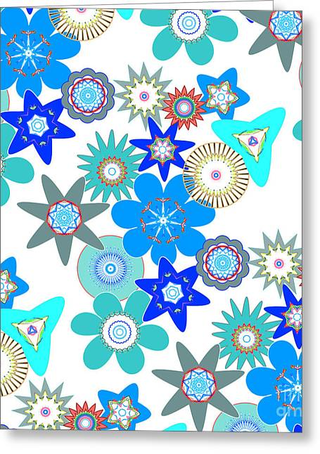 Funky Flower Pattern Greeting Card