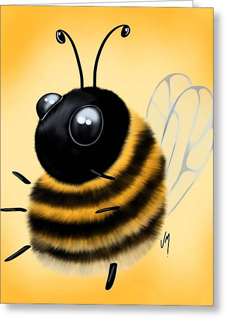 Funny Bee Greeting Card