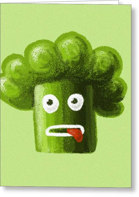 Funny Broccoli Greeting Card