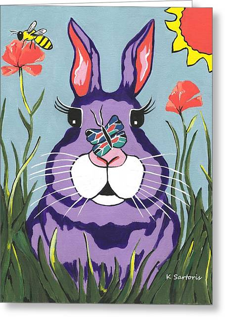 Funny Bunny - Happy Easter Greeting Card