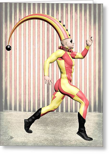 Cirque Costume Greeting Card by Quim Abella