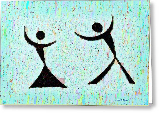 Funny Dance - Pa Greeting Card