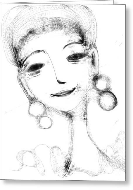Funny Face Greeting Card by Elaine Lanoue