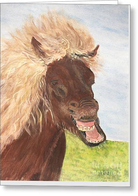 Funny Iceland Horse Greeting Card