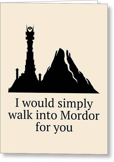 Funny Valentine Card - Lord Of The Rings Fan Gift - Anniversary Card - Love Card - Lotr Valentine Greeting Card