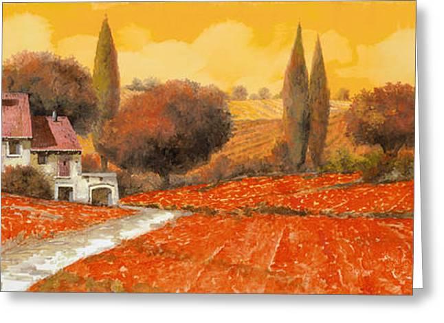 fuoco di Toscana Greeting Card
