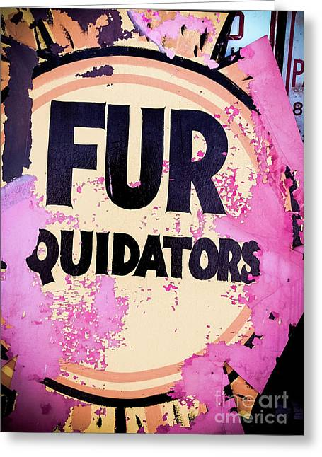 Greeting Card featuring the photograph Fur - Sign by Colleen Kammerer