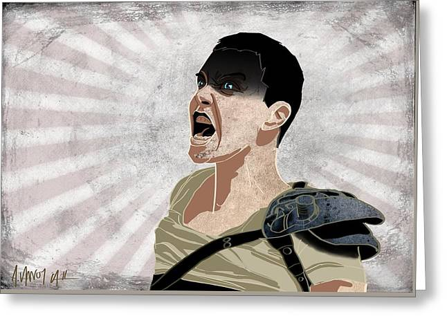 Furiosa Greeting Card by Alicia VanNoy Call
