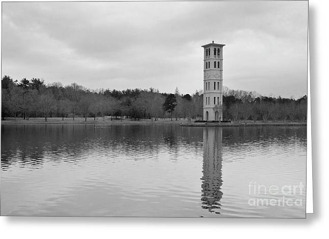 Furman Bell Tower 4 Bw Greeting Card