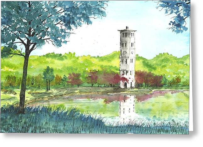 Furman Bell Tower Two Greeting Card