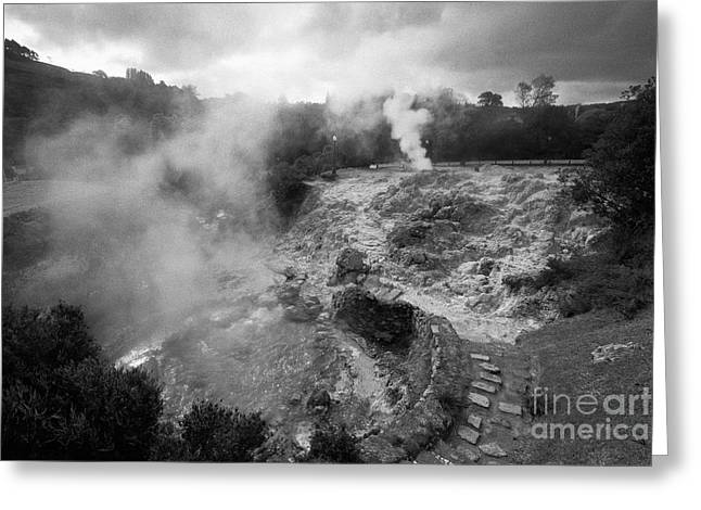 Furnas Volcano Greeting Card by Gaspar Avila