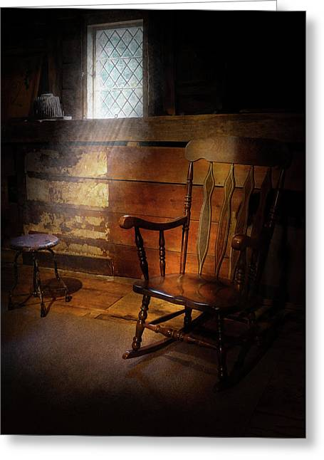 Furniture - Chair - Forgotten Memories  Greeting Card by Mike Savad