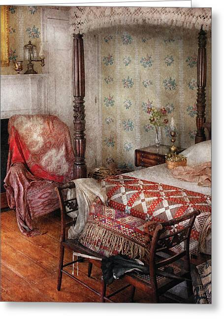 Furniture - Bedroom - A Place To Sleep Greeting Card by Mike Savad