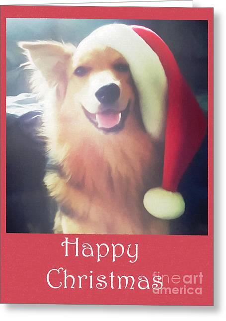 Furry Christmas Elf Greeting Card