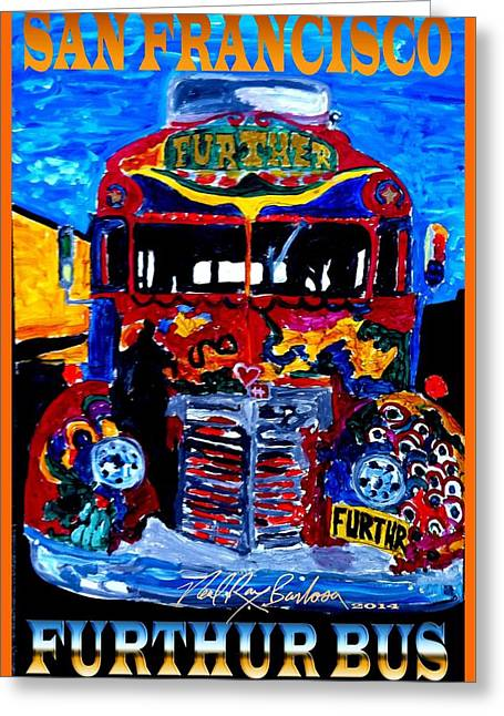 50th Anniversary Further Bus Tour Greeting Card