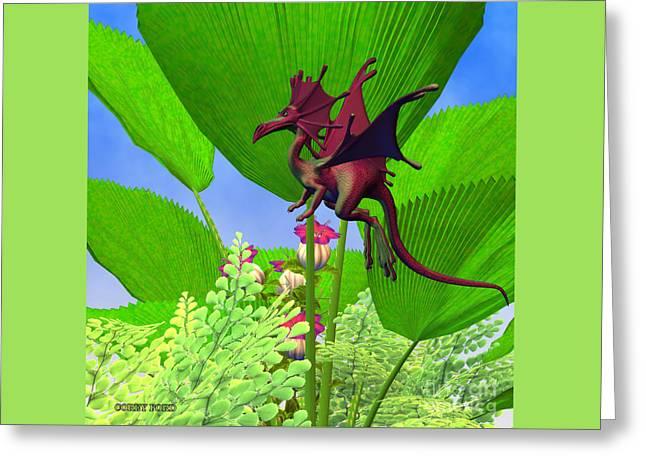 Fury Flying Dragon Greeting Card by Corey Ford