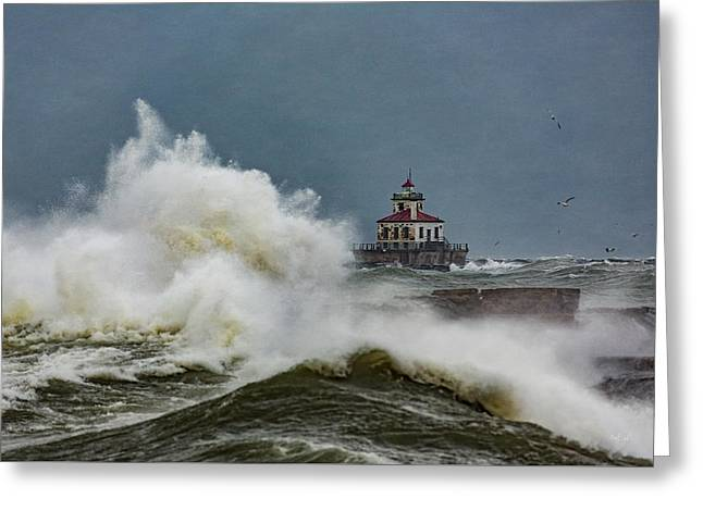 Fury On The Lake Greeting Card by Everet Regal
