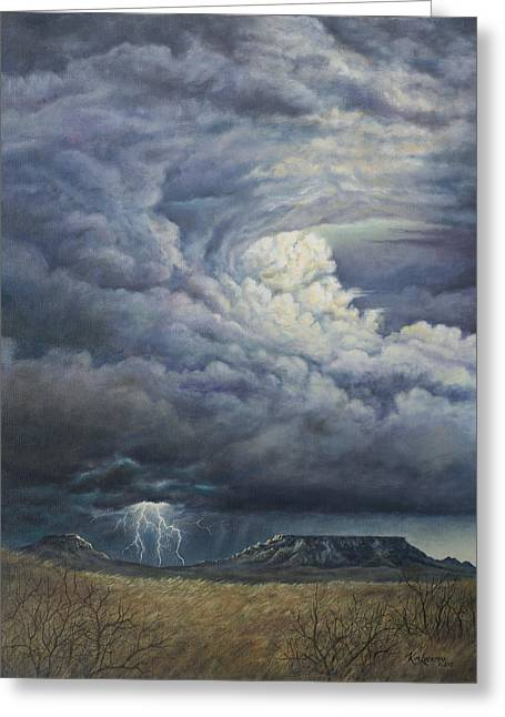 Fury Over Square Butte Greeting Card