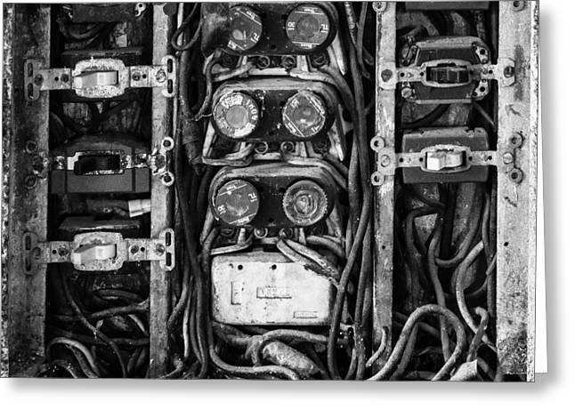 Greeting Card featuring the photograph Fuse Box by Mike Evangelist