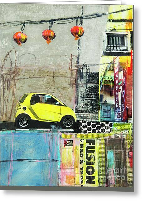 Greeting Card featuring the mixed media Fusion by Elena Nosyreva